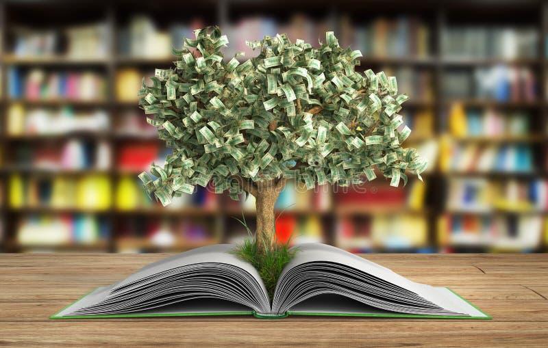 Η ανάπτυξη δέντρων από το μεγάλο ανοικτό βιβλίο βιβλίων Α με την ανάγνωση δέντρων κάνει το Υ απεικόνιση αποθεμάτων