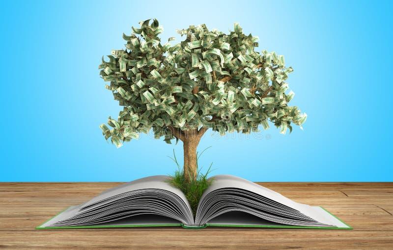 Η ανάπτυξη δέντρων από το μεγάλο ανοικτό βιβλίο βιβλίων Α με την ανάγνωση δέντρων κάνει το Υ διανυσματική απεικόνιση