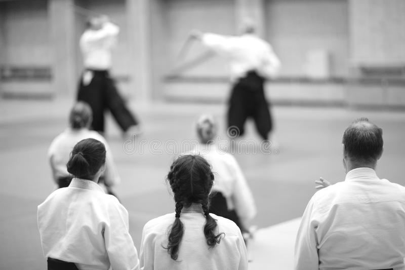 Η ανάπτυξη των μεθόδων aikido στη διδασκαλία στοκ εικόνες