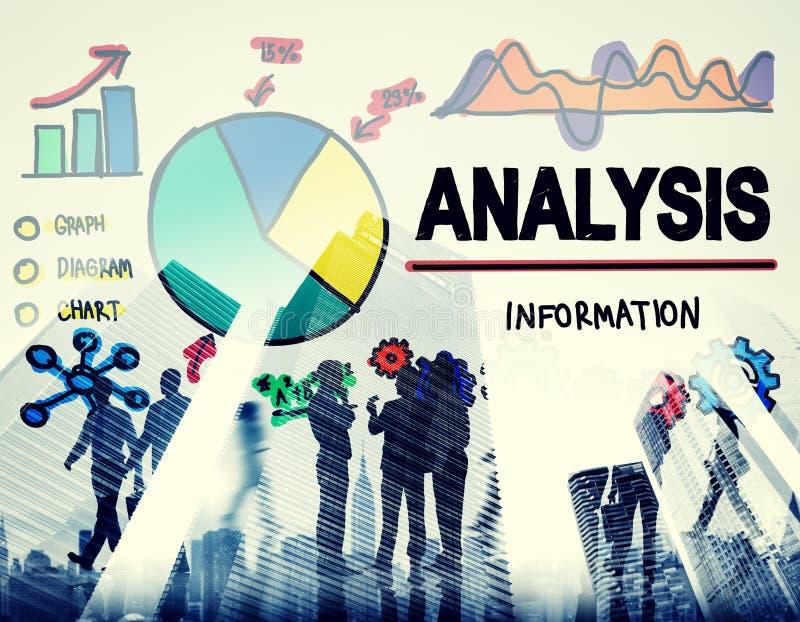 Η ανάλυση Analytics αναλύει την έννοια στατιστικών πληροφοριών στοιχείων στοκ εικόνα με δικαίωμα ελεύθερης χρήσης