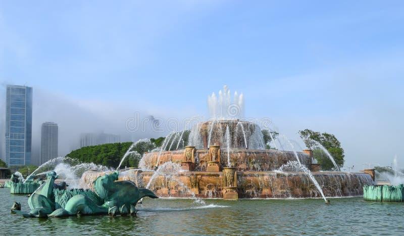 Η αναμνηστική πηγή Buckingham, Σικάγο, Ιλλινόις, ΗΠΑ στοκ εικόνα