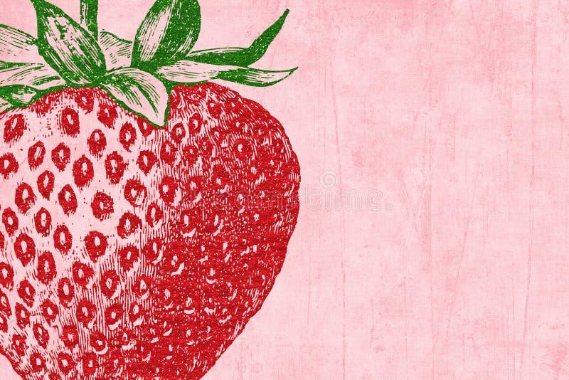 η ανασκόπηση ακτινοβολεί φράουλα λευκώματος αποκομμάτων στοκ εικόνες με δικαίωμα ελεύθερης χρήσης