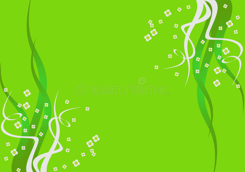 η ανασκόπηση ανθίζει πράσινο διανυσματική απεικόνιση