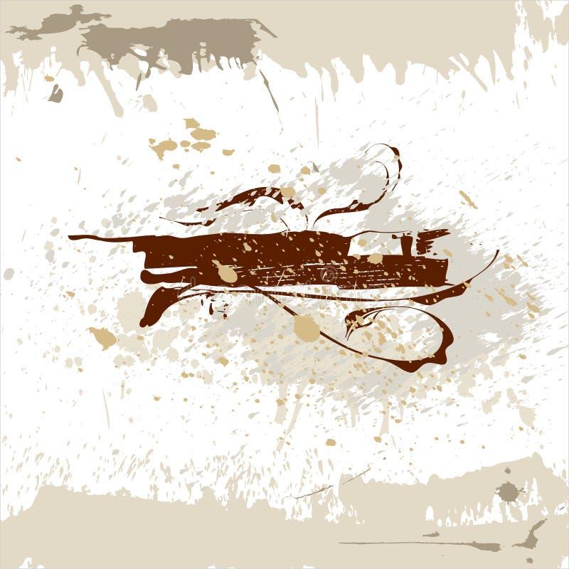 Download η ανασκόπηση ανθίζει Grunge Διανυσματική απεικόνιση - εικονογραφία από καμπύλη, πλαίσιο: 2230690
