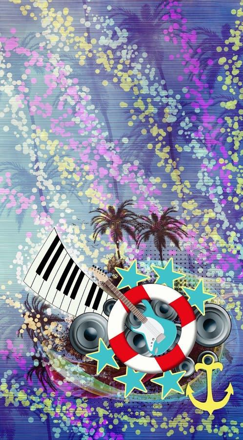 η ανασκόπηση είναι μπορεί διαφορετικοί σκοποί μουσικής απεικόνισης χρησιμοποιούμενοι στοκ φωτογραφίες