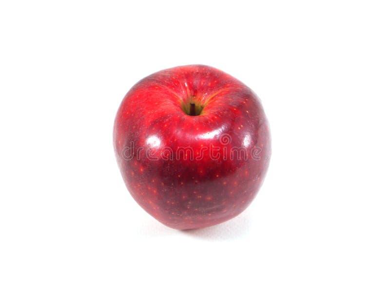 η ανασκόπηση μήλων κλείνει ένα κόκκινο επάνω λευκό στοκ εικόνες