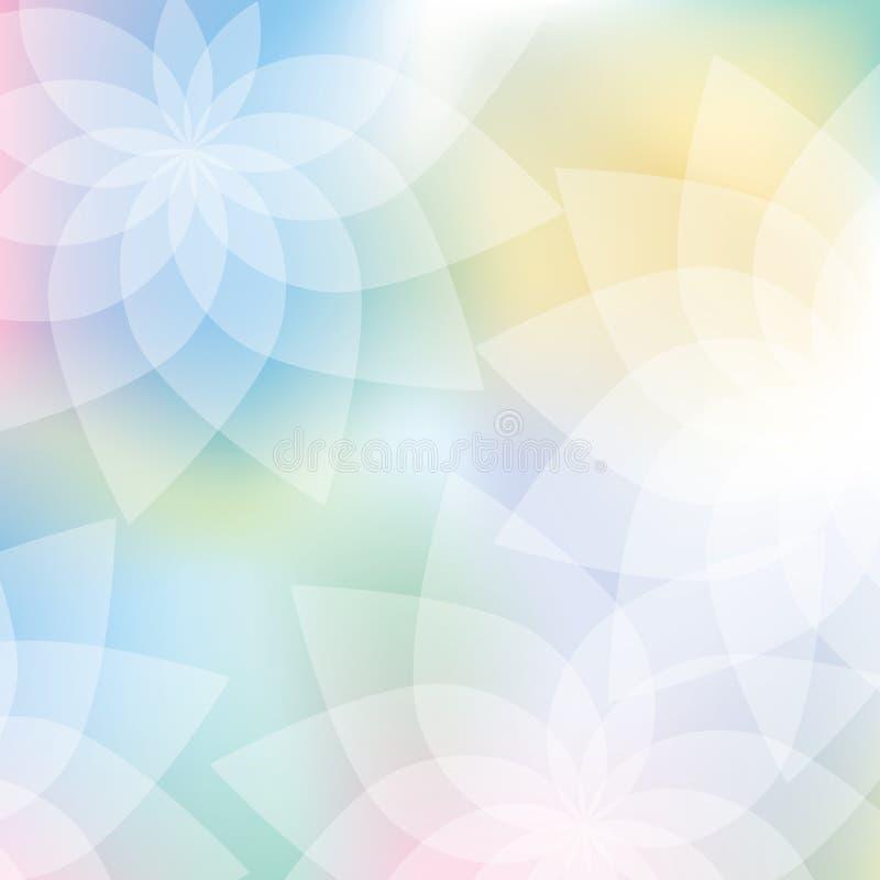 η ανασκόπηση χρωματίζει τη floral κρητιδογραφία διανυσματική απεικόνιση