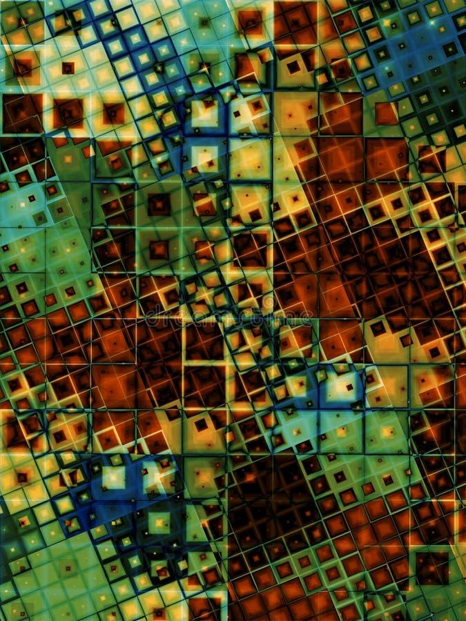 η ανασκόπηση χρωματίζει grunge τα κεραμίδια απεικόνιση αποθεμάτων