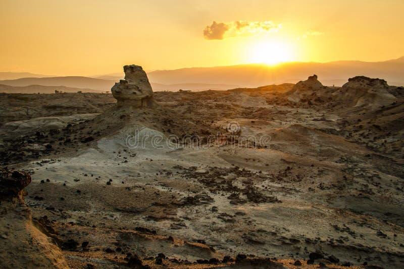Η ανατολή στην έρημο Tatacoa στην Κολομβία στοκ φωτογραφίες με δικαίωμα ελεύθερης χρήσης