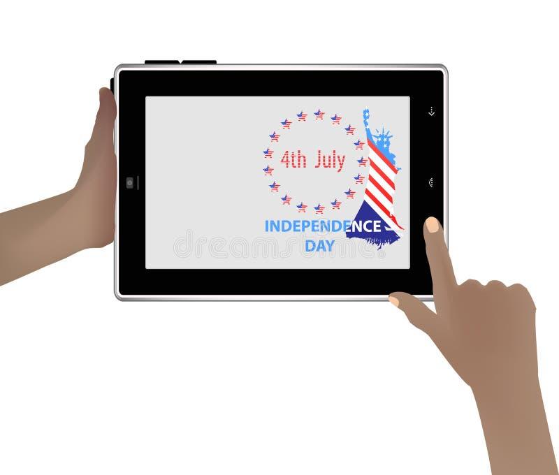 η ανεξαρτησία ημέρας δηλώνει ενωμένο διανυσματική απεικόνιση