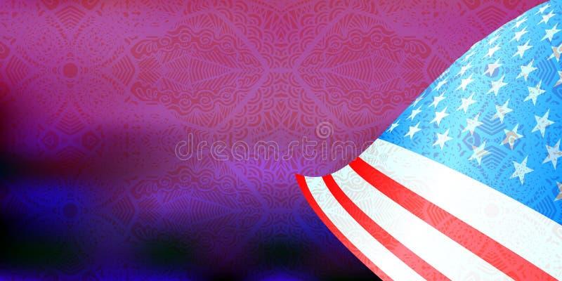 η ανεξαρτησία ημέρας δηλώνει ενωμένο ελεύθερη απεικόνιση δικαιώματος