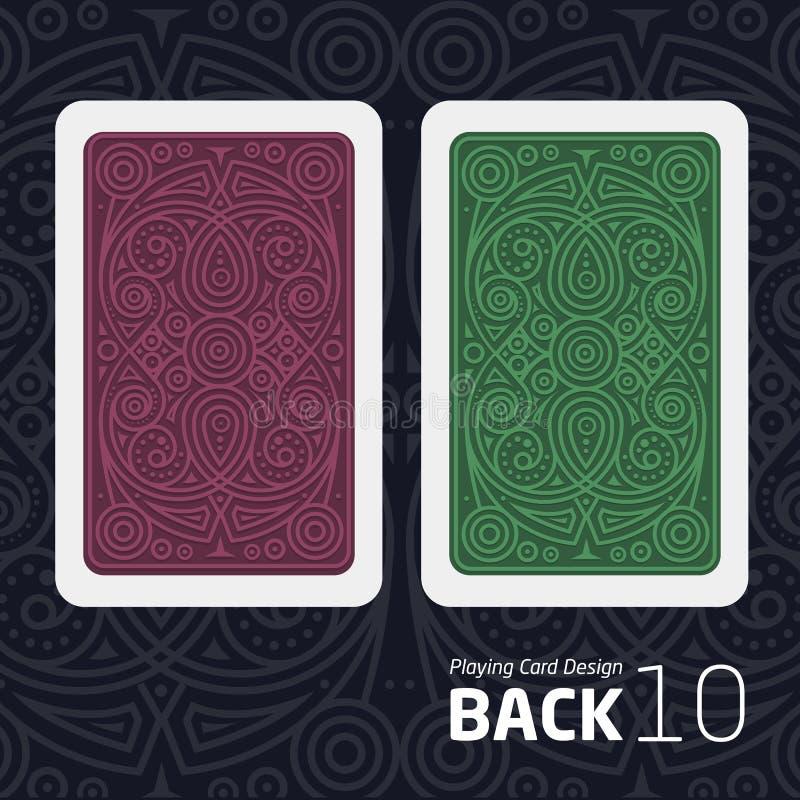 Η αντίστροφη πλευρά μιας κάρτας παιχνιδιού για το blackjack άλλο παιχνίδι με ένα σχέδιο απεικόνιση αποθεμάτων
