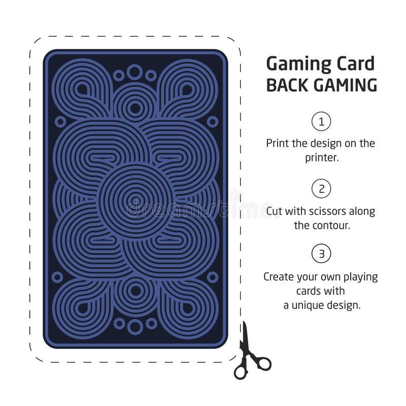 Η αντίστροφη πλευρά μιας κάρτας παιχνιδιού για το blackjack άλλο παιχνίδι με απεικόνιση αποθεμάτων