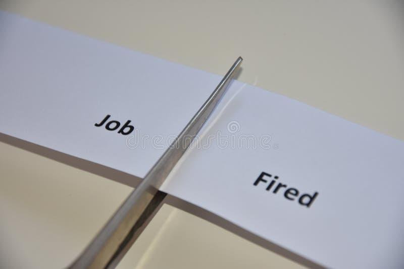 Η αντίφαση μεταξύ της εργασίας και της βαλμένης φωτιά λέξης στοκ εικόνα