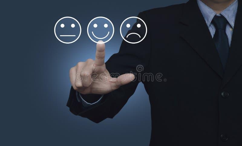 Η αξιολόγηση υπηρεσιών πελατών επιχείρησης και ανατροφοδοτεί την έννοια εκτίμησης στοκ εικόνα