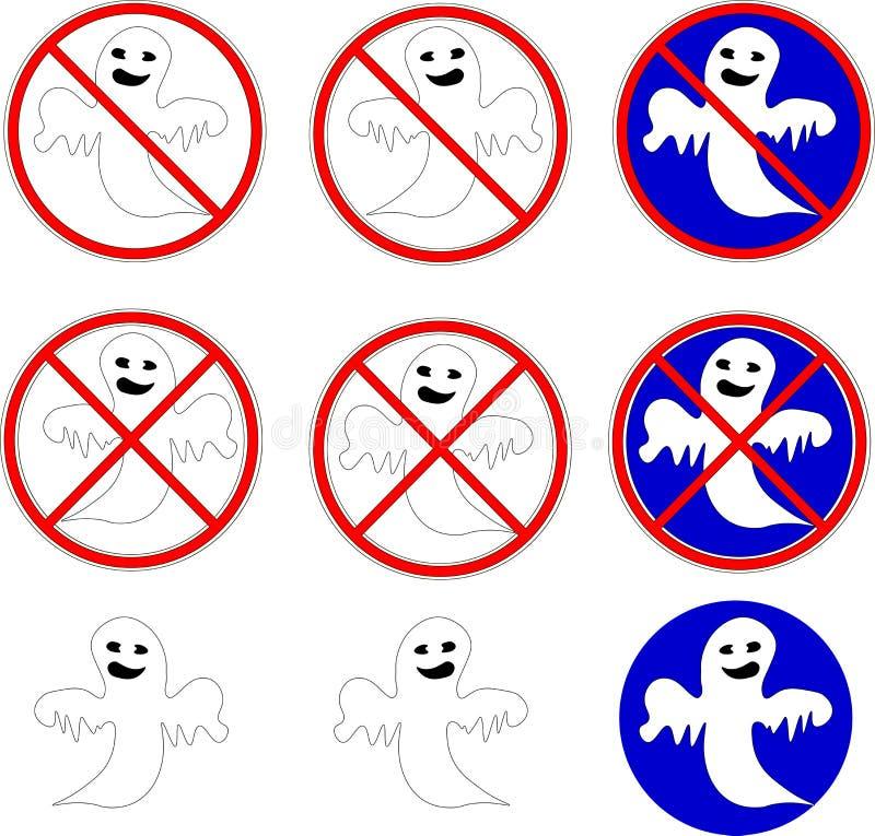 Η απαγόρευση της εμφάνισης των φαντασμάτων στοκ εικόνες