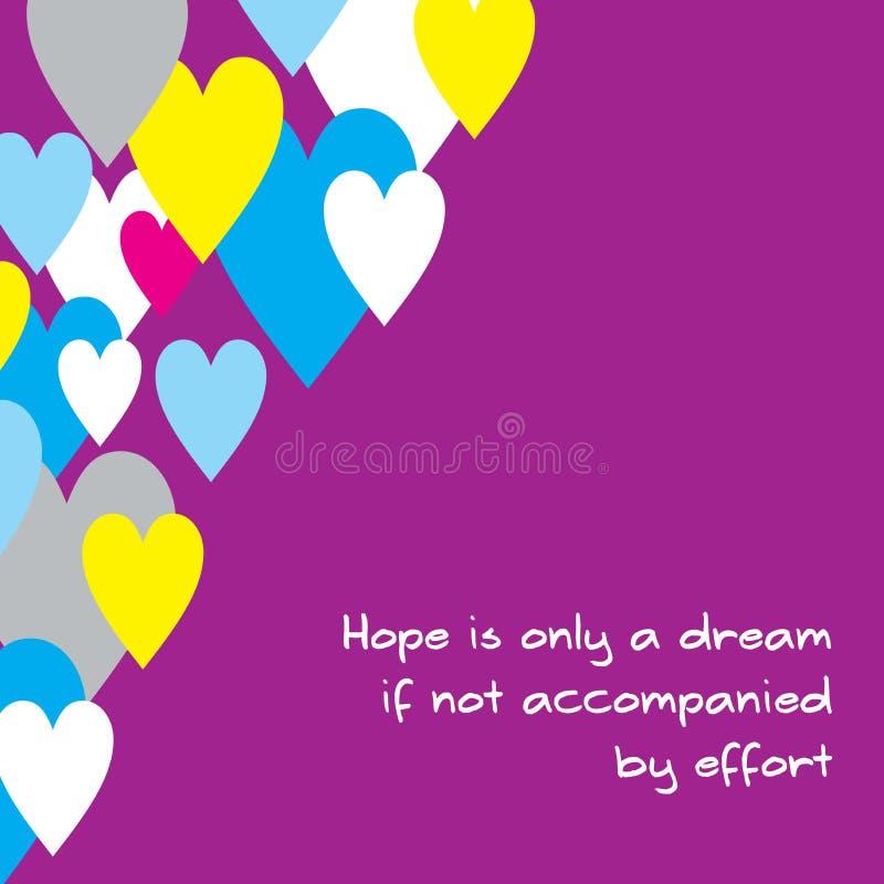 Η απεικόνιση των κινητοποιητικών λέξεων για την ελπίδα θα γίνει πραγματικότητα αν υποστηριχθεί από την προσπάθεια απεικόνιση αποθεμάτων