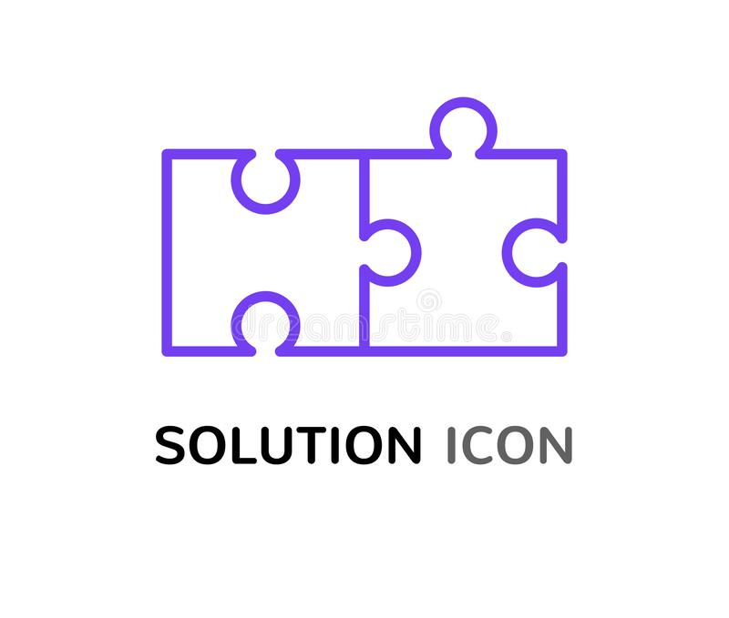 Η απλή έννοια γρίφων λύσης, που λύνει το πρόβλημα συγκεντρώνει το σχέδιο εικονιδίων απεικόνιση αποθεμάτων