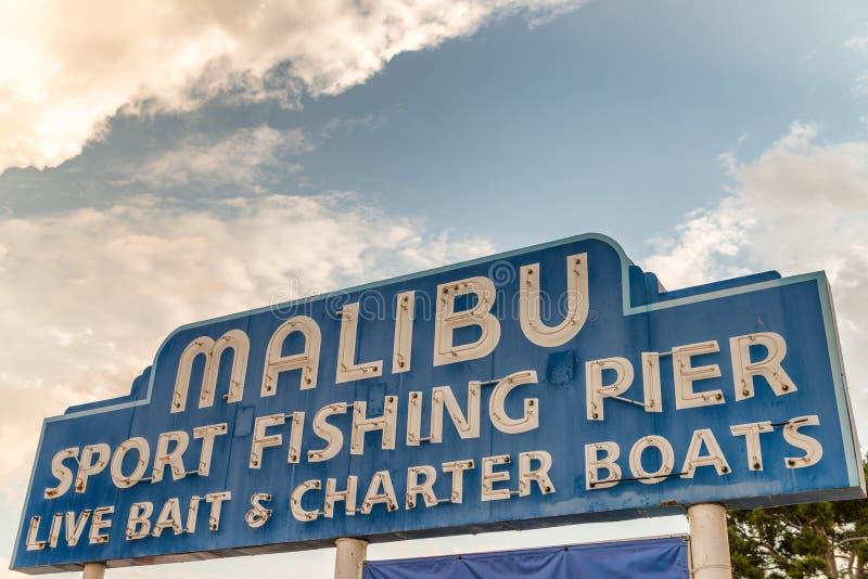 Η αποβάθρα αθλητικής αλιείας Malibu, ασβέστιο στοκ εικόνες
