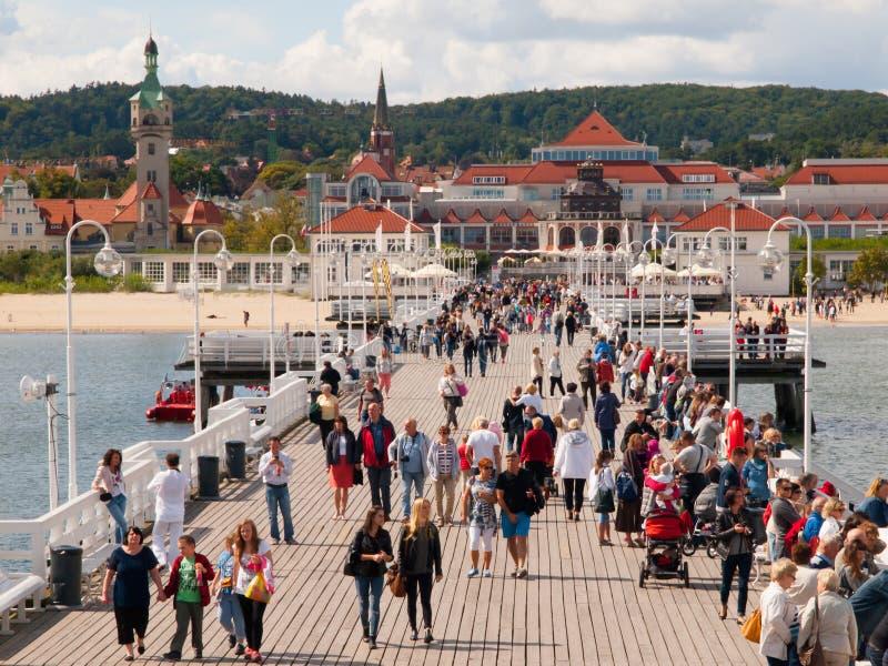 Η αποβάθρα Sopot στοκ φωτογραφίες με δικαίωμα ελεύθερης χρήσης