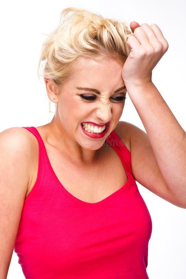 Download Η απογοήτευση και η πίεση και λυπούνται για Στοκ Εικόνα - εικόνα από κορίτσι, καυκάσιος: 17052105
