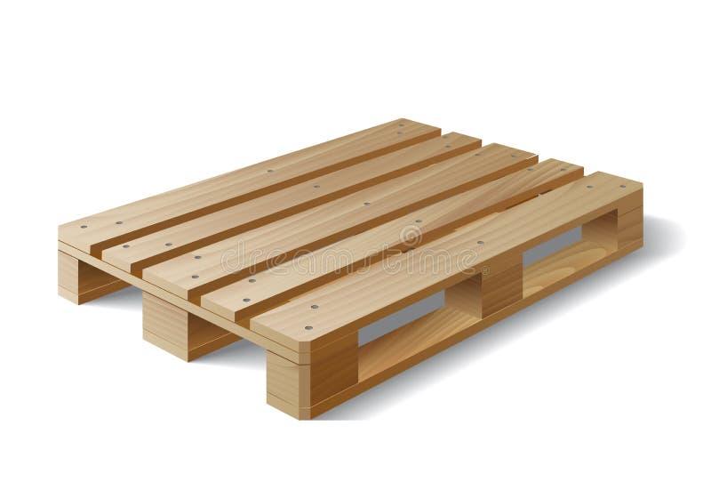 η απομονωμένη παλέτα δίνει άσπρο ξύλινο Στο λευκό ελεύθερη απεικόνιση δικαιώματος