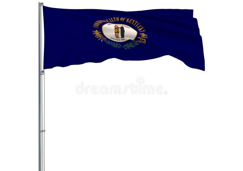 Η απομονωμένη σημαία της αμερικανικής κατάστασης του Κεντάκυ πετά στον αέρα, διανυσματική απεικόνιση