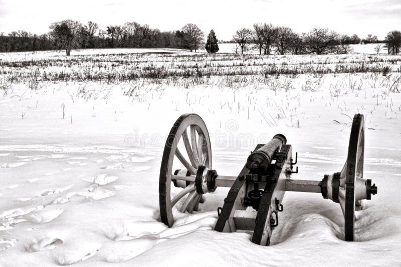 Η απομονωμένη Canon στον τομέα στην κοιλάδα σφυρηλατεί το εθνικό πάρκο στοκ εικόνες