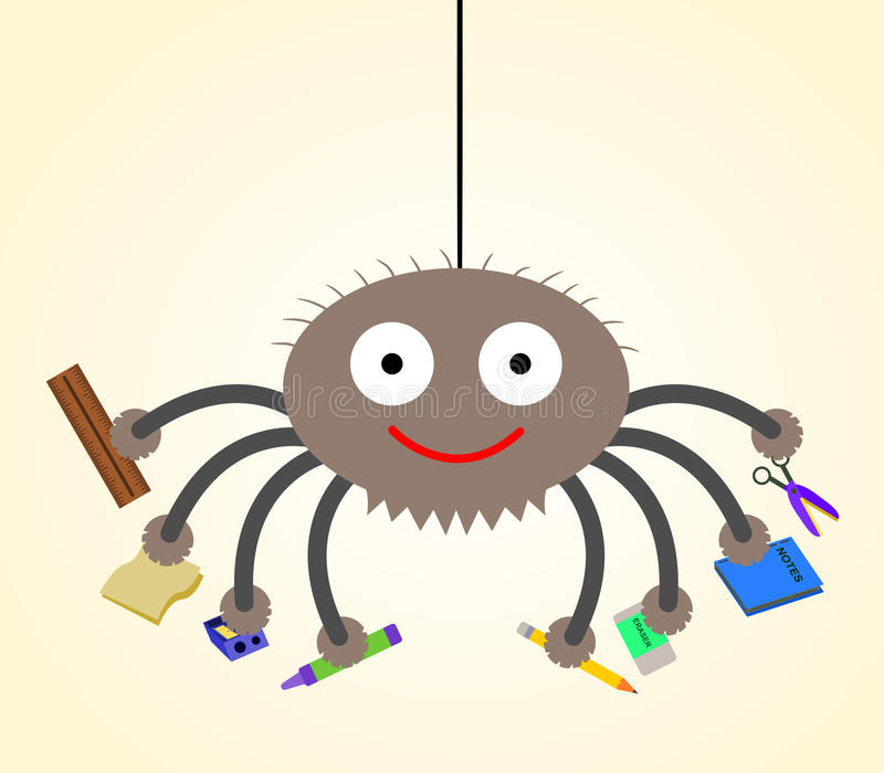 Η αράχνη πηγαίνει στο σχολείο ελεύθερη απεικόνιση δικαιώματος