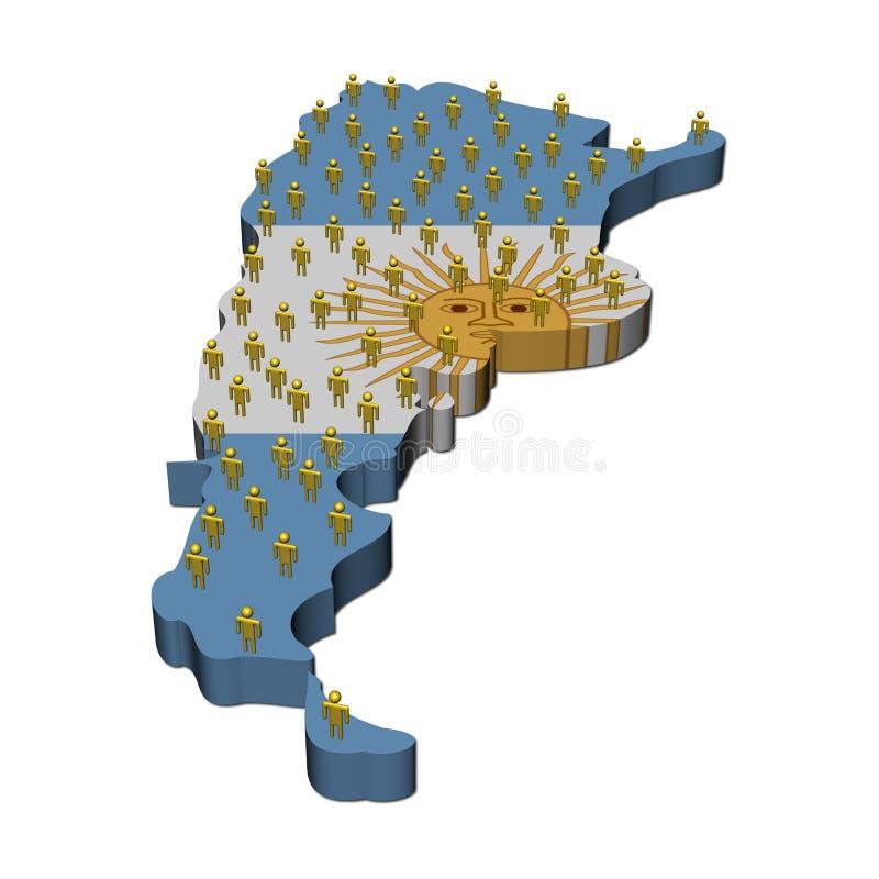 η Αργεντινή σημαιοστολίζ& διανυσματική απεικόνιση
