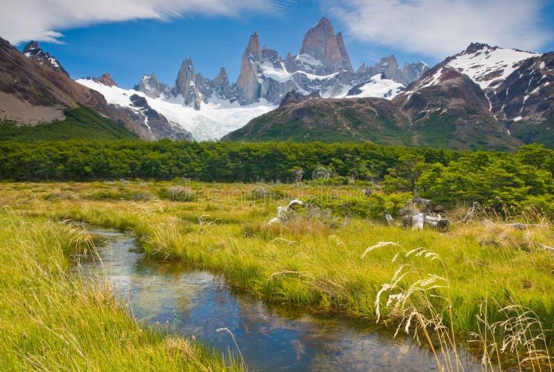 η Αργεντινή fitz glaciares Los επικολλά &ta στοκ φωτογραφία με δικαίωμα ελεύθερης χρήσης