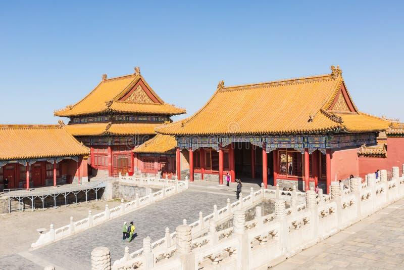 Η αρχαία βασιλική αρχιτεκτονική παλατιών παλατιών αυτοκρατορική, στο Πεκίνο, Κίνα στοκ εικόνα με δικαίωμα ελεύθερης χρήσης