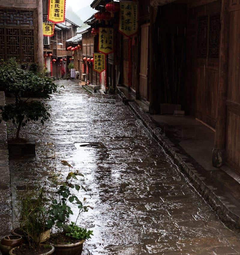Η αρχαία πόλη στη βροχή στοκ εικόνα με δικαίωμα ελεύθερης χρήσης