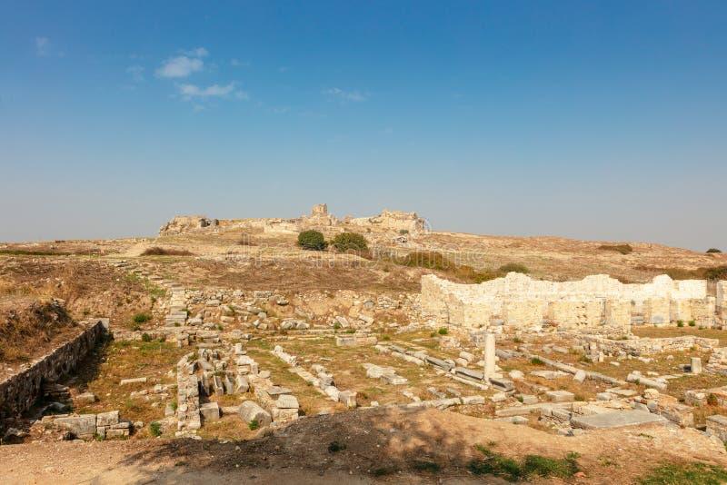Η αρχαιολογική περιοχή Miletus μια πόλη αρχαίου Έλληνα στη δυτική ακτή της Ανατολίας στοκ εικόνα με δικαίωμα ελεύθερης χρήσης