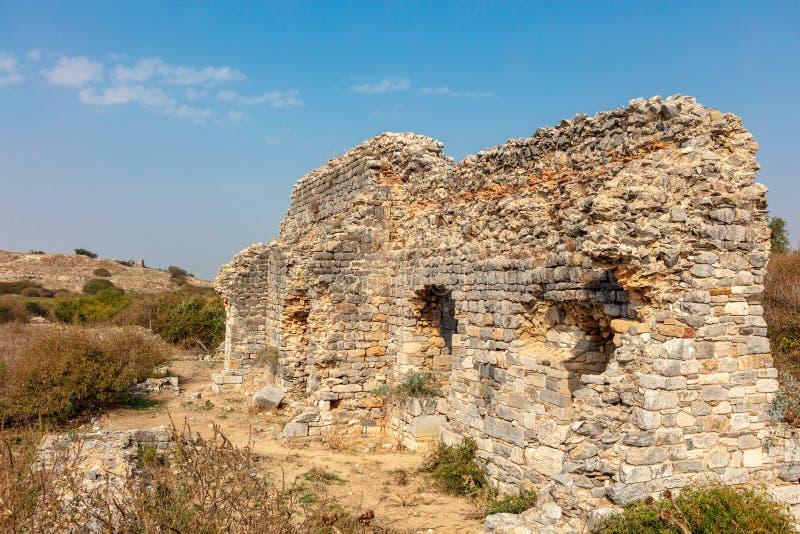 Η αρχαιολογική περιοχή Miletus μια πόλη αρχαίου Έλληνα στη δυτική ακτή της Ανατολίας στοκ εικόνες με δικαίωμα ελεύθερης χρήσης