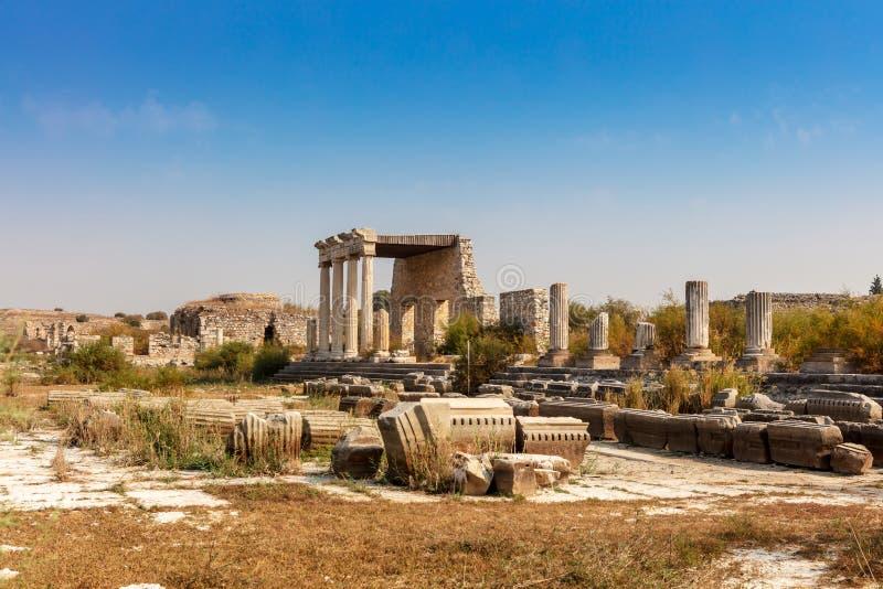 Η αρχαιολογική περιοχή Miletus μια πόλη αρχαίου Έλληνα στη δυτική ακτή της Ανατολίας στοκ εικόνες