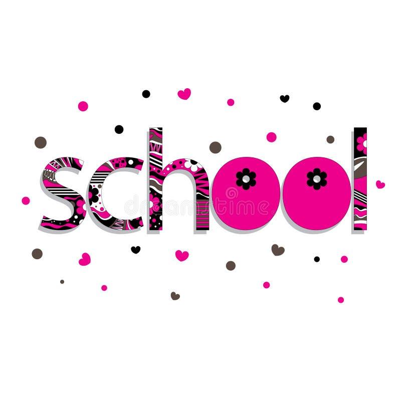 Η αρχική ορθογραφία του σχολείου λέξης ελεύθερη απεικόνιση δικαιώματος
