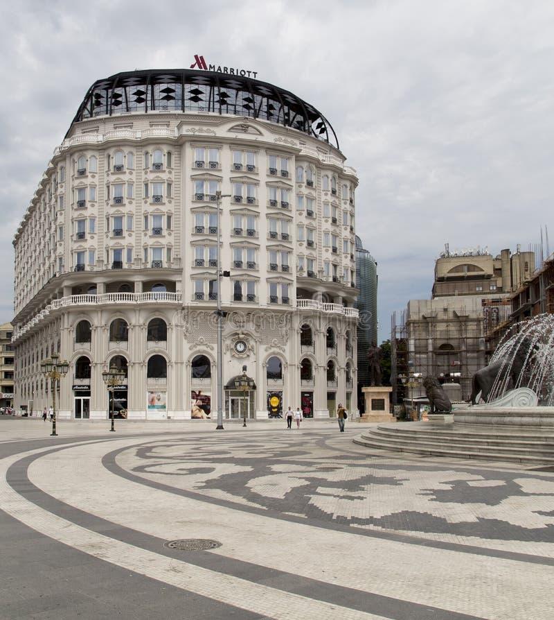 Η αρχιτεκτονική στο skopje, Μακεδονία στοκ εικόνες με δικαίωμα ελεύθερης χρήσης