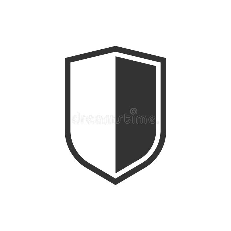 Η ασπίδα προστατεύει το εικονίδιο επίσης corel σύρετε το διάνυσμα απεικόνισης Επιχειρησιακή έννοια shiel απεικόνιση αποθεμάτων
