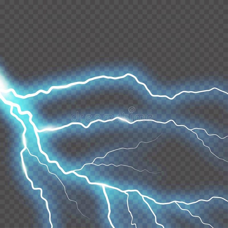 Η αστραπή και η βροντή αμπαρώνουν ή ηλεκτρική, επίδραση πυράκτωσης και σπινθηρίσματος, διανυσματική τέχνη που απομονώνεται στο δι διανυσματική απεικόνιση