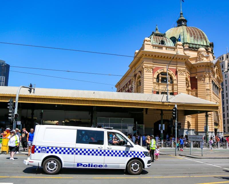 Η αστυνομία της Βικτώρια παρέχει ασφάλεια κατά τη διάρκεια της παρέλασης 2019 στην Αυστραλία στη Μελβούρνη στοκ φωτογραφία