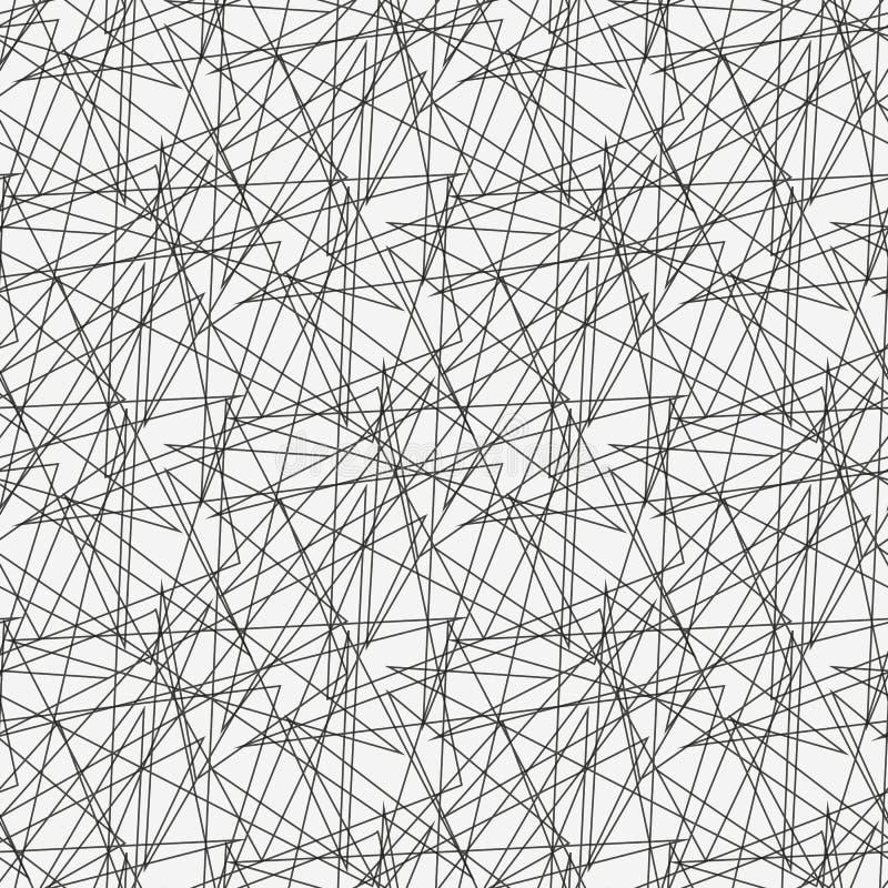 Η ασυμμετρική σύσταση με τις τυχαίες χαοτικές γραμμές, αφαιρεί το γεωμετρικό σχέδιο Γραπτή διανυσματική απεικόνιση ελεύθερη απεικόνιση δικαιώματος