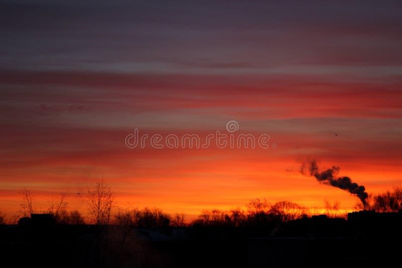 Η αυγή φθινοπώρου στοκ φωτογραφία