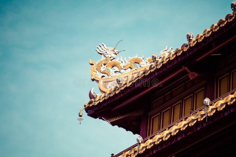 Η αυτοκρατορική Royal Palace της δυναστείας Nguyen στο χρώμα, Βιετνάμ ΟΥΝΕΣΚΟ στοκ εικόνες
