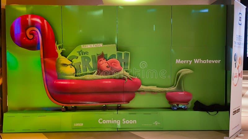 Η αφίσα κινηματογράφων Grinch στοκ εικόνες με δικαίωμα ελεύθερης χρήσης