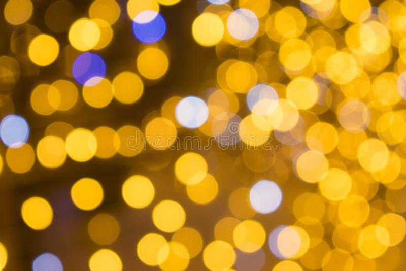 Η αφαίρεση χρωμάτισε μουτζουρωμένο Φω'τα από την εστίαση κίτρινος στοκ φωτογραφίες με δικαίωμα ελεύθερης χρήσης