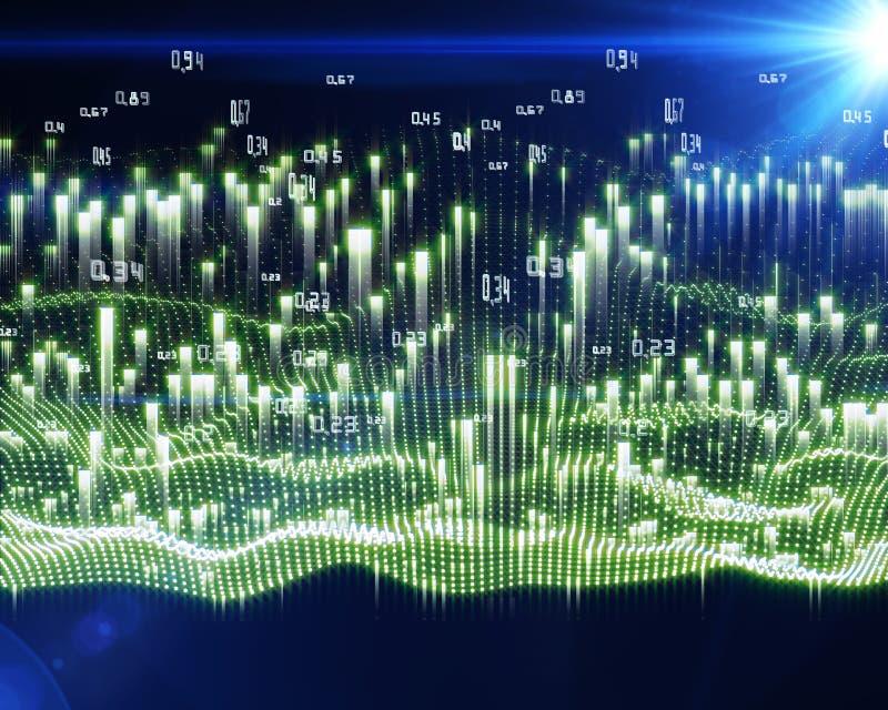 Η αφηρημένη ανάλυση infographic επάνω λάμπει υπόβαθρο r διανυσματική απεικόνιση
