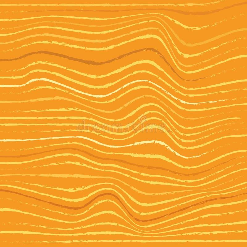 Η αφηρημένη διακοσμητική διαγώνιος τσαλάκωσε το κυματιστό ριγωτό κατασκευασμένο υπόβαθρο Κίτρινα χρώματα διάνυσμα ελεύθερη απεικόνιση δικαιώματος
