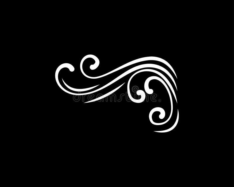 Η αφηρημένη swirly γωνία με ακμάζει τα filigree στοιχεία διακόσμηση διάνυσμα απεικόνιση αποθεμάτων