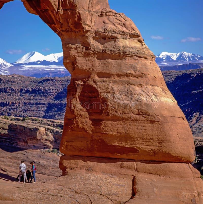 η αψίδα σχηματίζει αψίδα το λεπτό moab εθνικό πάρκο Utah στοκ εικόνες με δικαίωμα ελεύθερης χρήσης
